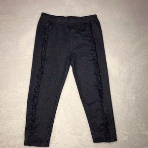 Black/Blue Ruffle Jeggings by Okie Dokie Size 5T